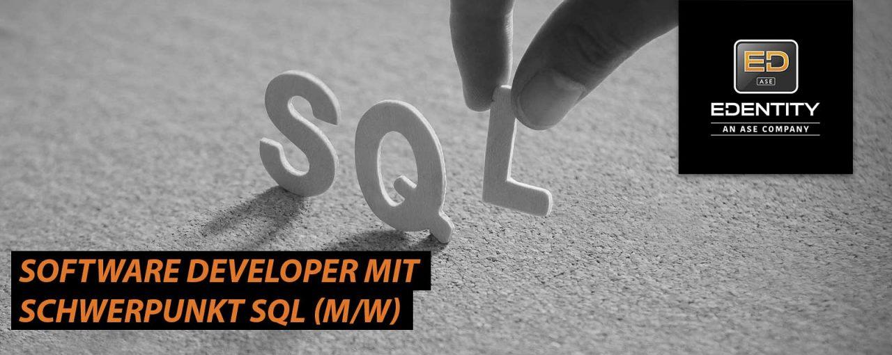 Software Developer mit Schwerpunkt SQL (m/w)
